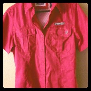 Spider Wire Hot Pink Utility Shirt. S